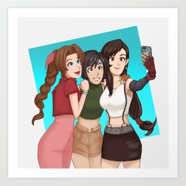 Selfie! Ft. The ladies of FF Art Print