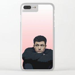 Taron Egerton 3 Clear iPhone Case