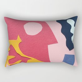 Paper Cut Outs Rectangular Pillow
