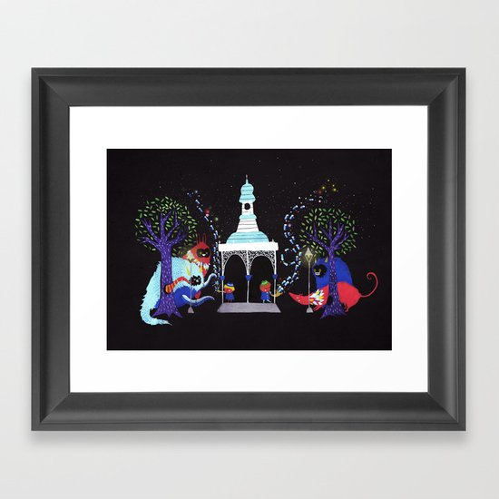 We only play to the night.  Framed Art Print
