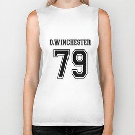 Winchester Dean Supernatural Short Sleeve Two Tone White Grey Gray Tee Clothing tattoo soccer Biker Tank