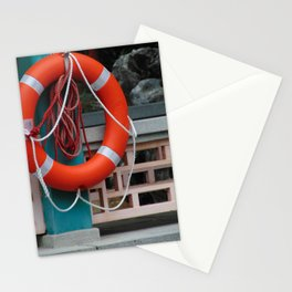 Photograph of a life buoy in Hong Kong Stationery Cards