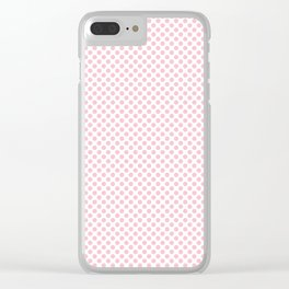 Rose Shadow Polka Dots Clear iPhone Case