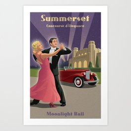 Moonlight Ball Art Print