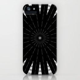 Black White mandala Design iPhone Case