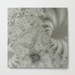 Cauliflower Fractal Lines Pattern Metal Print