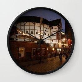 An Evening at the Globe Wall Clock