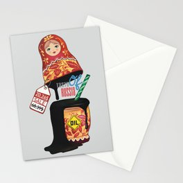 Taste of Russia matryoshka oil doll sale Stationery Cards