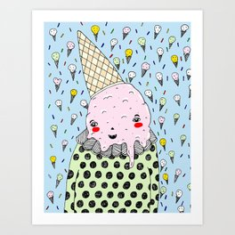 Creamy Head Art Print