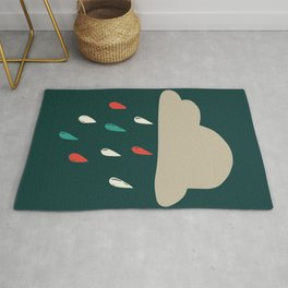 Cloudy with a chance of rainfall Rug