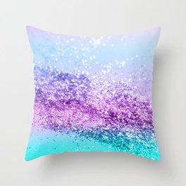 Unicorn Girls Glitter #14 #shiny #decor #art #society6 Throw Pillow