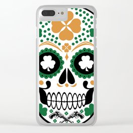 Clover Skull Clear iPhone Case