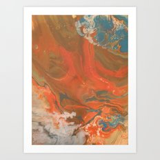 Dusty Sunset Art Print