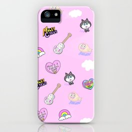 Miley in the Sky with Rainbows iPhone Case