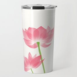 Vintage Pink Flower 1 with Brown Border Travel Mug