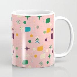 Atomic Pattern Pink Green  #midcenturymodern Coffee Mug