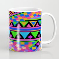 neon Mugs featuring NEON by Bianca Green