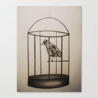 cage Canvas Prints featuring Cage by Mikhaela Davis