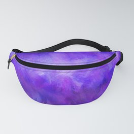 Dappled Blue Violet Abstract Fanny Pack