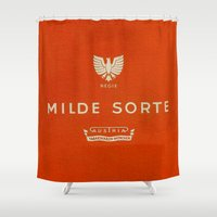 cigarette Shower Curtains featuring Milde Sorte - Vintage Cigarette by Fernando Vieira
