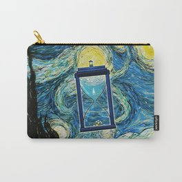 Tardis Clock Starry Night Carry-All Pouch