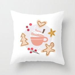 Cozy Winter Vibes Throw Pillow