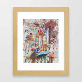 On The Wings Of Lost Girls Framed Art Print