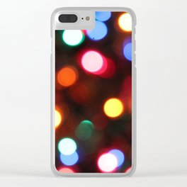 Colored Christmas Lights (2) Clear iPhone Case
