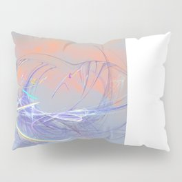 Ladybug on a to them invisible flower Pillow Sham