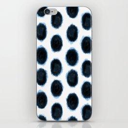 Geometric Indigo Shibori iPhone Skin