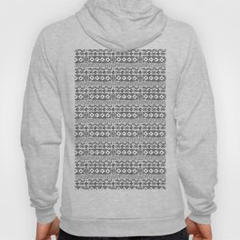 Mudcloth No. 3 in Black and White Hoody