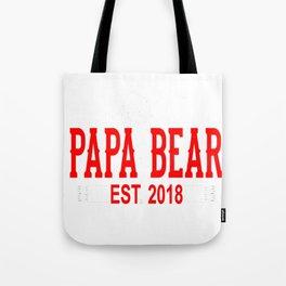 Papa Bear Est 2018 Tote Bag