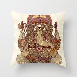 Ganesha: Lord of Success Throw Pillow