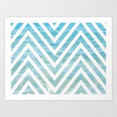 Water Chevron  Art Print