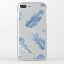 Falling Feathers Clear iPhone Case