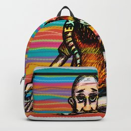 Bearded and ex poison snake Backpack