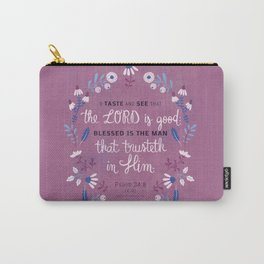 Psalm 34:8 Carry-All Pouch