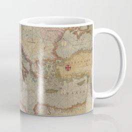 Vintage Map of Europe and The Mediterranean (1569) Coffee Mug