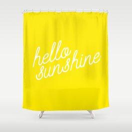 Hello Sunshine Script Shower Curtain