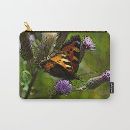 Tortoise Shell Butterfly Carry-All Pouch