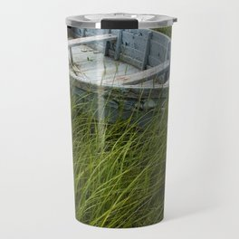 Abandoned Boat in the Grass on PEI Travel Mug