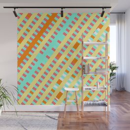 African Inspired Tropical Thatch Print Wall Mural