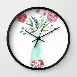 Dr Pepper bouquet Wall Clock