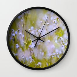 Forget-me-nots On a Windy Day #decor #society6 Wall Clock