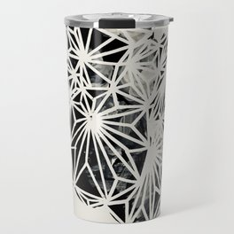 Pilea Black and White Plant Print Travel Mug