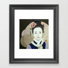 Her yearning Framed Art Print