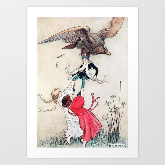 Compassionate Children Illustration Art Print
