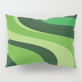 70's Green Vibe Pillow Sham
