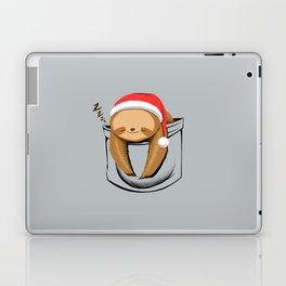 Sloth in a Pocket Xmas Laptop & iPad Skin