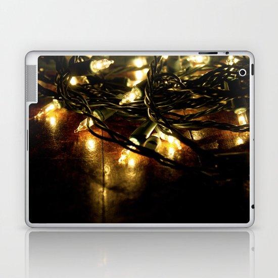 white lights - christmas Laptop & iPad Skin